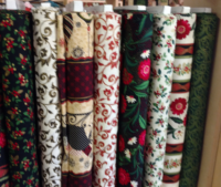 Fabrics that are available in the shop..